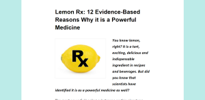 Lemon Rx 12 Evidence Based Reasons Why it is a Powerful Medicine The Telemedicine Reporter